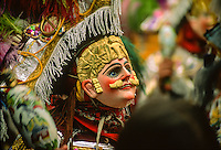A participant in a parade during the festival of Santo Tomas in Chichicastenango