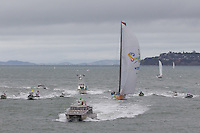 NEW ZEALAND. 11th March 2012. Volvo Ocean Race Leg 4. Leg finish Auckland. Team Sanya.
