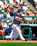 12 March 2009: Atlanta Braves' outfielder Jordan Schafer in action during a Spring Training game against the Washington Nationals at Disney's Wide World of Sports in Orlando, Florida. The Braves defeated the Nationals 6-2 in the Grapefruit League matchup. Mandatory Photo Credit: Ed Wolfstein Photo