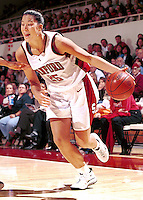 Lindsey Yamasaki during the 1999-2000 women's basketball season at Maples Pavilion in Stanford, CA.