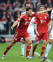 FUSSBALL   1. BUNDESLIGA  SAISON 2011/2012   31. Spieltag FC Bayern Muenchen - FSV Mainz 05       14.04.2012 Mario Gomez (FC Bayern Muenchen)