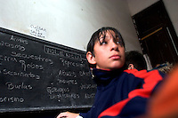 South America, Argentina, Almirante Brown, Adrogue, Evangelism - Cristo para Todos (Christ for All) Church has formed an anti-violence education program at local public schools called &quot;No More Violence,&quot; pictured here, July 2006, &copy;Stephen Blake Farrington<br />