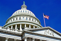 The stars and stripes flag flying at the Capitol Building, Washington, USA. RESERVED USE - NOT FOR DOWNLOAD -  FOR USE CONTACT TIM GRAHAM