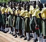 Catholic school children in Southern Sudan participate in a procession through the streets of Juba on November 20 to pray for a peaceful January 2011 referendum on secession from the north of the country. The independence vote has widespread support throughout Southern Sudan, including among Christians.