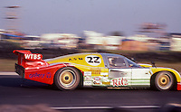 #22 Nimrod NRA Aston Martin of Drake Olsen, Lyn St. James, and Reggie Smith (5th place) 12 Hours or Sebring, Sebring International Raceway, Sebring, FL, March 19, 1983.  (Photo by Brian Cleary/bcpix.com)