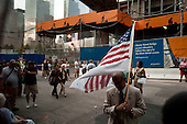New  York, New York.September 10, 2011..Views near Ground Zero on the eve of the 10th anniversary of 9-11-2001.