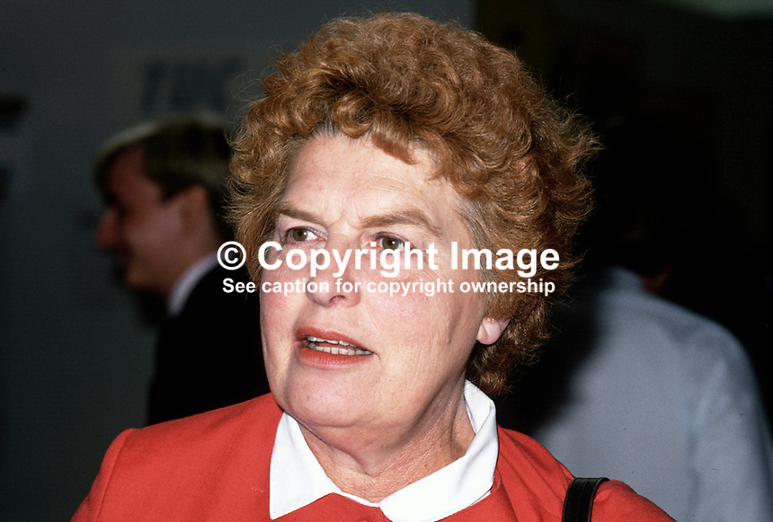 Joan Lestor, MP, Labour Party, UK, 19870906JL..Copyright Image from Victor Patterson, 54 Dorchester Park, Belfast, UK, BT9 6RJ..Tel: +44 28 9066 1296.Mob: +44 7802 353836.Voicemail +44 20 8816 7153.Skype: victorpattersonbelfast.Email: victorpatterson@me.com.Email: victorpatterson@ireland.com (back-up)..IMPORTANT: If you wish to use this image or any other of my images please go to www.victorpatterson.com and click on the Terms & Conditions. Then contact me by email or phone with the reference number(s) of the image(s) concerned.