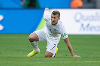 Jack Wilshere of England  looks dejected and injured