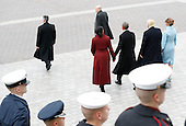 Former First Lady Michelle Obama, former President of the United States Barack Obama, United States President Donald Trump and First Lady Melania Trump walk to Marine One at the Capitol Building after Trump is sworn in at the 58th Presidential Inauguration on Capitol Hill in Washington, D.C. on January 20, 2017.  <br /> Credit: John Angelillo / Pool via CNP