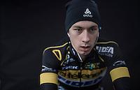 Lars van der Haar (NED/Telenet-Fidea) zoning in on the rollers pre-race<br /> <br /> CX Superprestige Noordzeecross <br /> Middelkerke / Belgium 2017