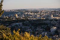 Asie/Israël/Judée/Jérusalem: Vieille ville de Jérusalem depuis le mont des Oliviers