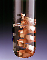 COPPER DOES NOT REACT IN HYDROCHLORIC ACID<br /> (1 of 2)<br /> Copper Is Placed In 0.5M HCl. No Reaction Occurs.