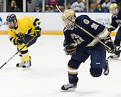 (Heywood) Bryan Rust (Notre Dame - 21) - The University of Notre Dame Fighting Irish defeated the Merrimack College Warriors 4-3 in overtime in their NCAA Northeast Regional Semi-Final on Saturday, March 26, 2011, at Verizon Wireless Arena in Manchester, New Hampshire.