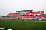 27 April 2007: A view of the main West Stand from the northeast corner of the field.  BMO Field in Toronto, Ontario, Canada on the day before it was scheduled open with the inaugural home match of Major League Soccer expansion team Toronto FC.