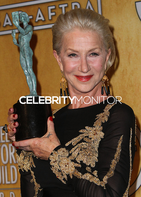 LOS ANGELES, CA - JANUARY 18: Helen Mirren in the press room at the 20th Annual Screen Actors Guild Awards held at The Shrine Auditorium on January 18, 2014 in Los Angeles, California. (Photo by Xavier Collin/Celebrity Monitor)