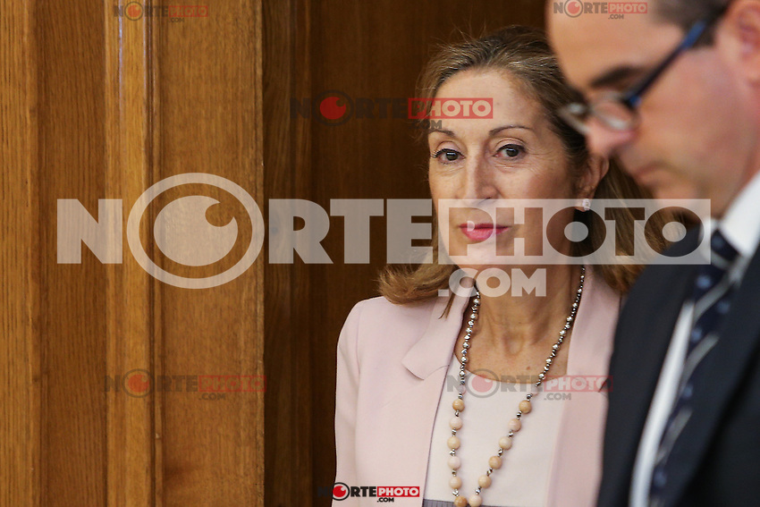 Spanish Ana Maria Pastor Julian, president of the Congress of Deputies during the audience at Zarzuela palace in Madrid. September 01, 2016. (ALTERPHOTOS/Rodrigo Jimenez) /NORTEPHOTO