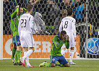 SEATTLE WASHINGTON - Sunday, November 18, 2012: The Seattle Sounders FC in in the 2012 MLS Western Conference Final match against the L.A. Galaxy on XBox Pitch at CenturyLink Field. The Sounders won the game 2-1, but lost the playoff series.