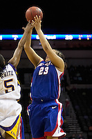 SAN ANTONIO, TX - MARCH 25, 2006: The DePaul University Blue Demons face the Louisiana State Univeristy Tigers in the NCAA Women's Basketball San Antonio Regional first semi-final in the AT&T Center. (Photo by Jeff Huehn)