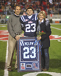 Ole Miss safety George Helow (23) on Senior Day at Vaught-Hemingway Stadium in Oxford, Miss. on Saturday, November 27, 2010.