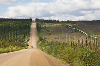 Unpaved section of the James Dalton Highway, &quot;The Haul Road&quot; arctic, Alaska.