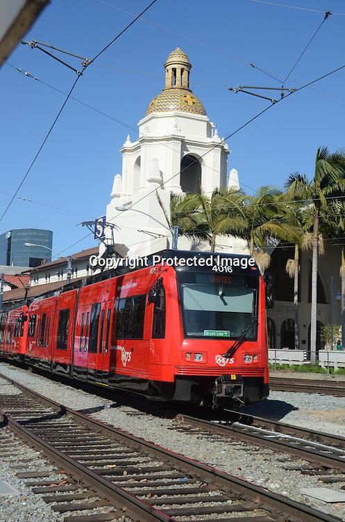 Stock Photo of mass transit San Diego California