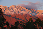 San Jacinto Mountains at dawn