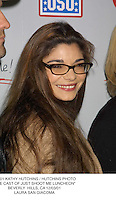 """©2001 KATHY HUTCHINS / HUTCHINS PHOTO.""""THE CAST OF JUST SHOOT ME LUNCHEON"""".BEVERLY  HILLS, CA 12/03/01.LAURA SAN GIACOMA"""