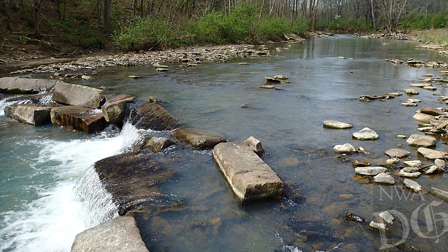 NWA Democrat-Gazette/FLIP PUTTHOFF <br /> Kings River flows through the heart April 14 2017 of Kings River Falls Natural Area.