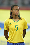 09 August 2008: Renata Costa (BRA).  The women's Olympic soccer team of Brazil defeated the women's Olympic soccer team of North Korea 2-1 at Shenyang Olympic Sports Center Wulihe Stadium in Shenyang, China in a Group F round-robin match in the Women's Olympic Football competition.