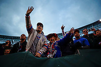 Buffalo Bills fans cheer after winning the game against New York Jets during their NFL game at MetLife Stadium in New Jersey. 09.05.2014. VIEWpress