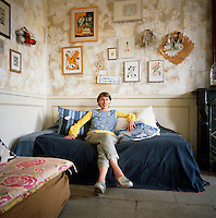 Myriam Balay Devidal one half of Les Copirates, a French design duo creating unique pieces and objects inside her apartment in Nimes, France