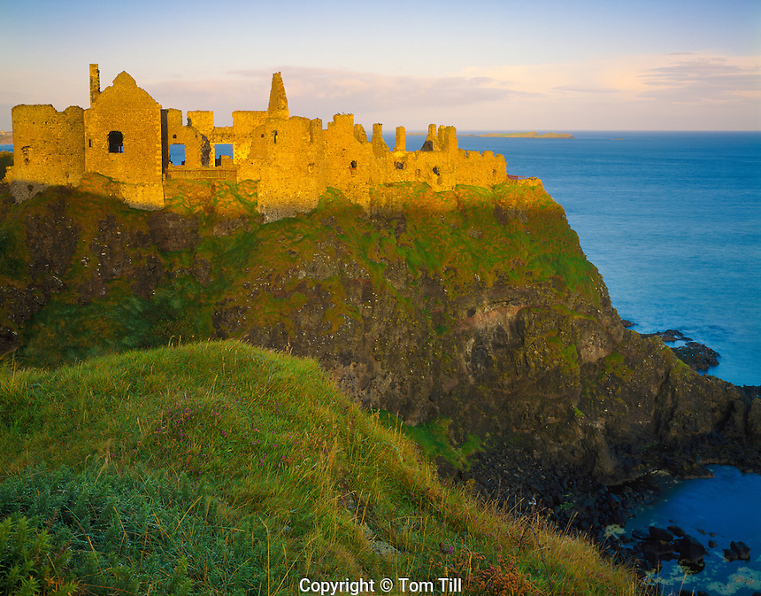Dunluce Castle Northern Ireland, United Kingdom Twelfth Century Castle on Atlantic Ocean Sept. County Antrim Castle of MacDonnells 45 H ICl3 National Trust Site