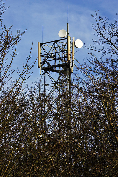Mobile phone mast, Shipton Under Wychwood, The Cotswolds, United Kingdom