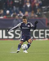 New England Revolution midfielder Benny Feilhaber (22) passes the ball. In a Major League Soccer (MLS) match, the New England Revolution defeated Sporting Kansas City, 3-2, at Gillette Stadium on April 23, 2011.