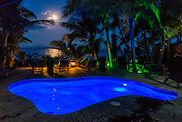 Namotu Island Resort, Namotu, Fiji. (Tuesday May 13, 2014) Full moon rising over the Villa pool. –  The swell was in the 2'-3' range today with light winds. There were sessions at  Namotu Lefts, Swimming Pools,  and Cloudbreak around the tides.  Photo: joliphotos.com