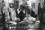 The Midland Bank, December 23rd 1994. Southfields Branch, London SW18. Each year the manager of this branch ( my branch ) threw a Christmas Party for the staff and customers. The Fancy Dress was themed and in 1994 the theme was Robin Hood.  Donna one of the bank tellers.