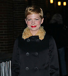 """Celebrities visit """"Late Show with David Letterman"""" New York, Ny February 1, 2012"""