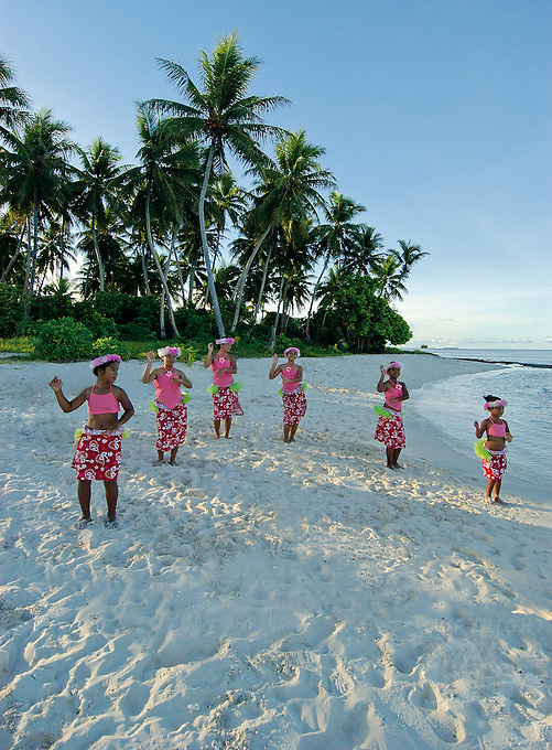 Local happy Chuukese on the island of Chuuk Micronesia South Pacific