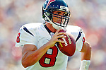 11 September 2005: David Carr, quarterback for the Houston Texans, passed for 70 yards while rushing for 40, in a game against the Buffalo Bills on September 11, 2005.  The Bills defeated the Texans 22-7, winning the first game of the 2005 season at Ralph Wilson Stadium in Orchard Park, NY.<br />