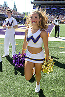 SEP 12, 2015:  University of Washington cheerleader Lindsy Russell vs Sacramento State at Husky Stadium in Seattle, Washington. Washington won over Sacramento State.