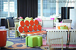Couches and decor during elegant  Bat Mitzvah at the 65th floor ballroom of the  Mandarin Oriental Hotel.  ..