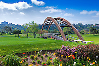 Riverwalk Golf Course Bridge Fairway, Golf Course, Tee Box, Teeing Ground, rough, Flowers, hazards