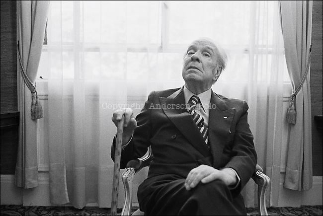 Jorge Luis Borges, Argentinian writer.