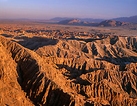 CADAB_119 -  Sunset defines eroded sedimentary formations at Font's Point, Anza-Borrego Desert State Park, California, USA --- (4x5 inch original, File size: 7772x6000, 133mb uncompressed)