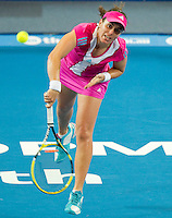 ANABEL MEDINA GARRIGUES (ESP) against MARION BARTOLI (FRA) in the Group stage of the HOPMAN CUP. France beat Spain 6-2 6-4..05/01/2012, 5th January 2012, 05.01.2012..The HOPMAN CUP, Burswood Dome, Perth, Western Australia, Australia.@AMN IMAGES, Frey, Advantage Media Network, 30, Cleveland Street, London, W1T 4JD .Tel - +44 208 947 0100..email - mfrey@advantagemedianet.com..www.amnimages.photoshelter.com.