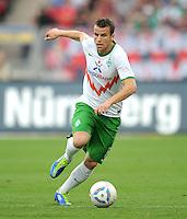 FUSSBALL   1. BUNDESLIGA  SAISON 2011/2012   6. Spieltag 1 FC Nuernberg - SV Werder Bremen         17.09.2011 Lukas Schmitz (SV Werder Bremen)