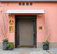 The front door to Osteria Francescana in Modena, Italy. Photo Sydney Low