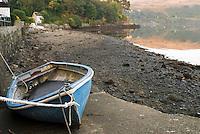 Row boat on Ramp in Portree Harbor, Isle of Skye