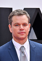 Matt Damon at Jason Bourne UK film premiere,the fifth instalment in the Bourne franchise, at Odeon Leicester Square, London, England 11 July 2016.<br /> CAP/JOR<br /> &copy;JOR/Capital Pictures /MediaPunch ***NORTH AND SOUTH AMERICAS ONLY***