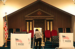 An elaborate background makes for an interesting setting for election day.